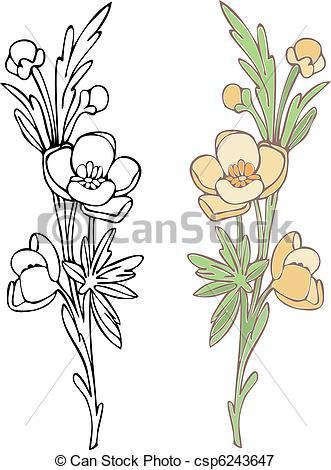 Drawn wildflower Art Wildflower Illustration  Wildflower