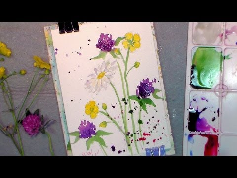 Drawn wildflower beginner Wildflowers YouTube watercolor to easy