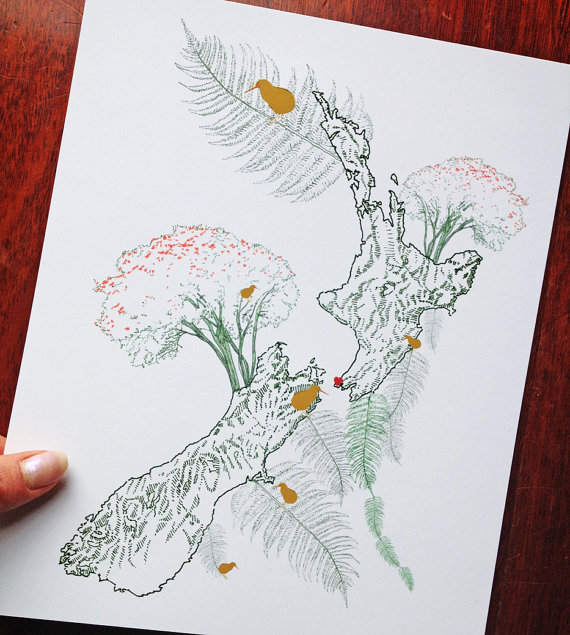 Drawn wildflower And ZEALAND Drawing ZEALAND Drawing
