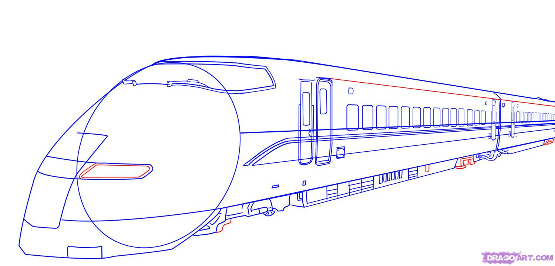 Drawn train japanese Bullet Draw Bullet 7 a