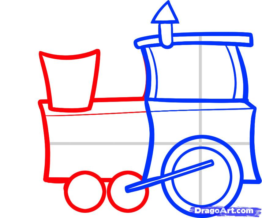 Drawn railroad kid train Trains Transportation to Step how