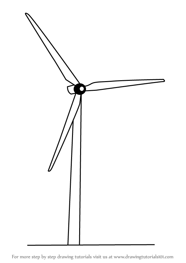 Drawn windmill old Draw Drawing How DrawingTutorials101 Electric