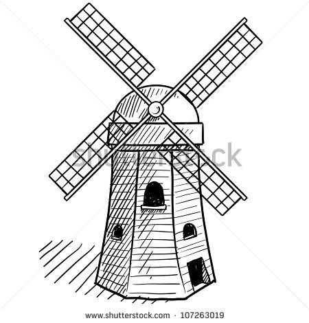 Drawn windmill old Drawing ideas Dutch 25+ on