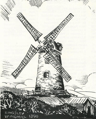 Drawn windmill old Mill Kingley Gibson Billy Wind