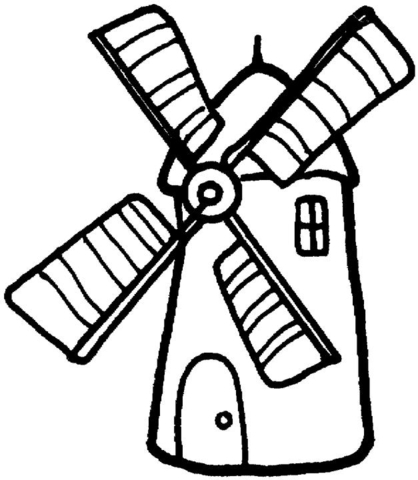 Drawn windmill Page page Click printable Coloring