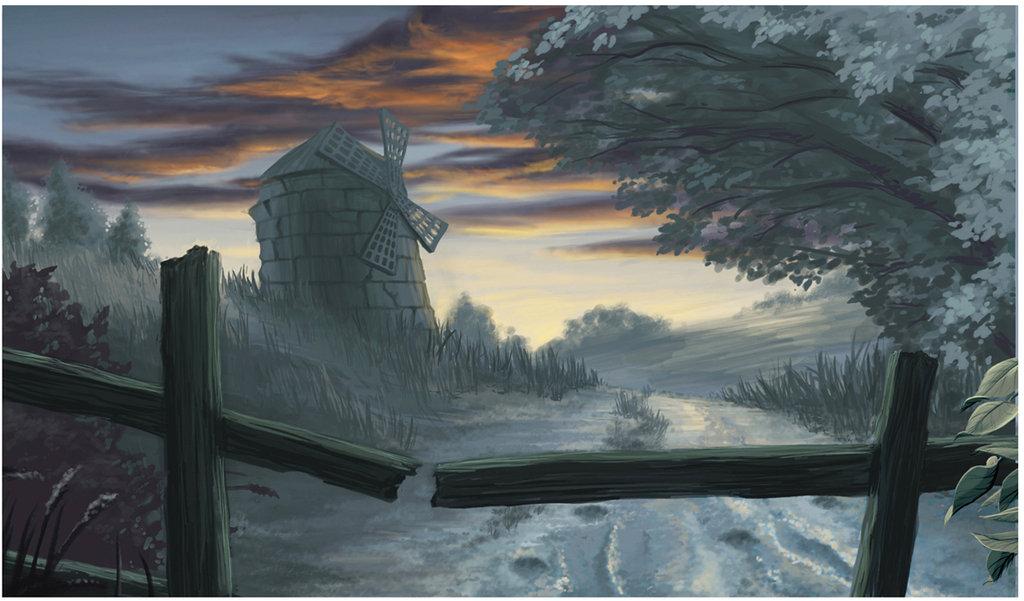 Drawn windmill animal farm Animal on LadyBloodFlower Windmill by