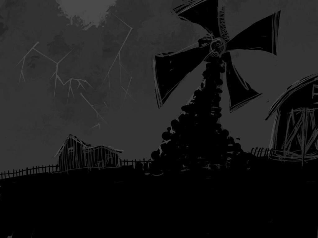 Drawn windmill animal farm Animal Allenwalton Allenwalton Drawing by