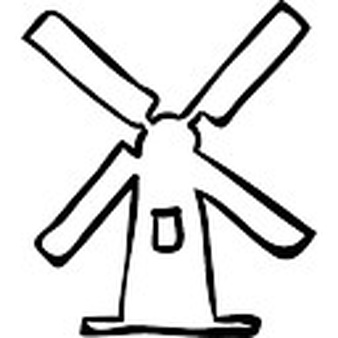 Windmill clipart outline Download Windmill outline drawn hand