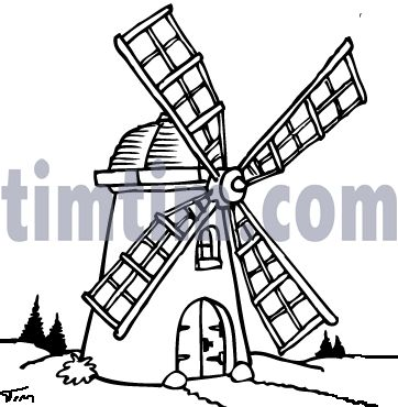 Netherlands clipart farm windmill On images more Cartoon 30