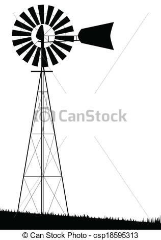 Windmill clipart farm windmill Vector Vector A  Windmill