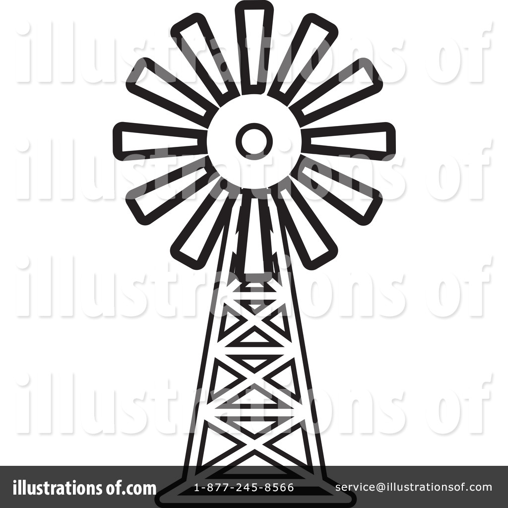 Windmill clipart outline Lal Windmill #1244093 Perera Royalty