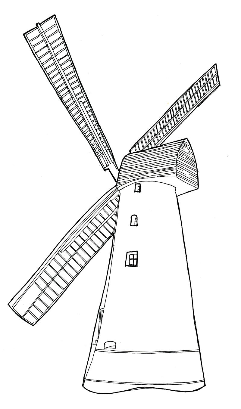 Drawn windmill easy Brixton jitesh Drawing Brixton Jitesh