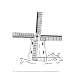 Drawn windmill easy A to Step Windmills by