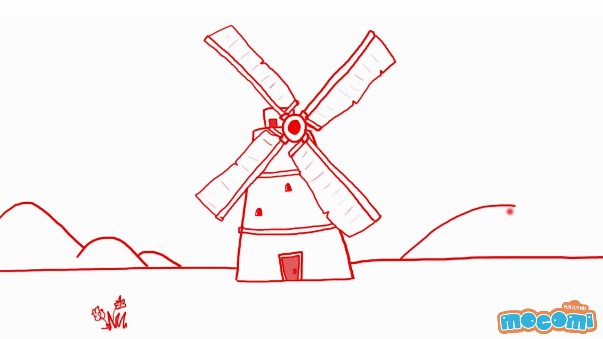 Drawn windmill easy A To How In YouTube