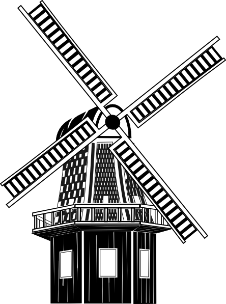 Windmill clipart old fashioned #2