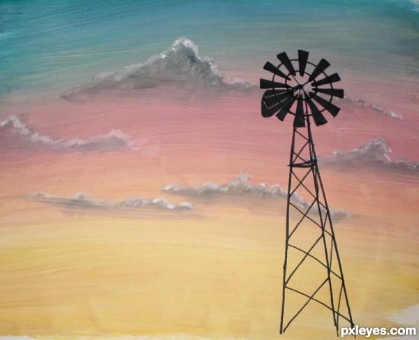 Drawn windmill farm windmill At Pxleyes Step Windmill Drawing