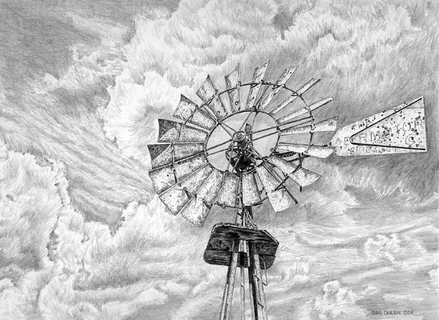 Drawn windmill farm windmill By Carlson Windmill Windmill Carlson