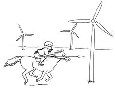 Drawn windmill modern Illustration and  Wind Don