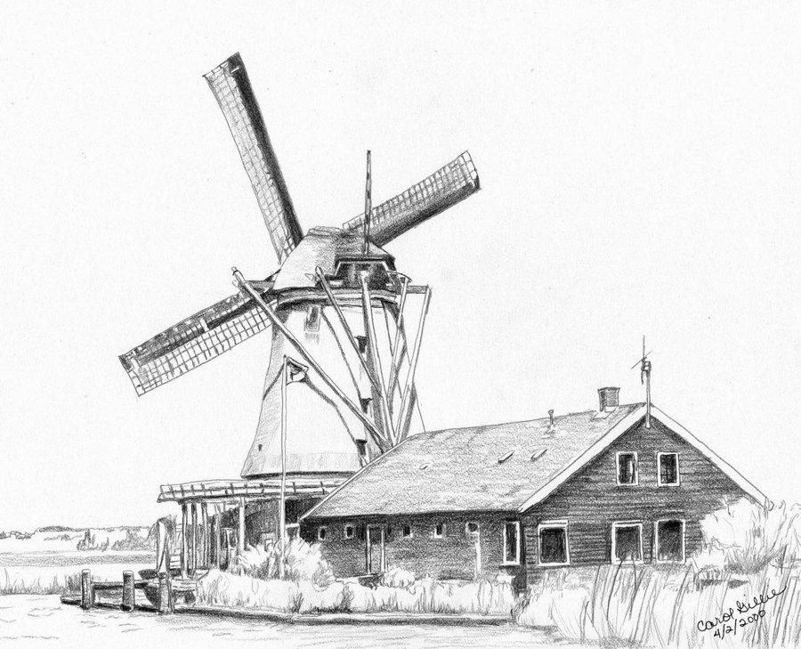Drawn windmill Windmill Windmill DeviantArt on by