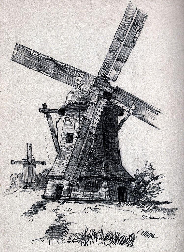 Drawn windmill Jpg Lill drawing Netherlands?) (by