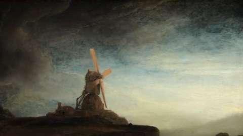 Drawn windmill old