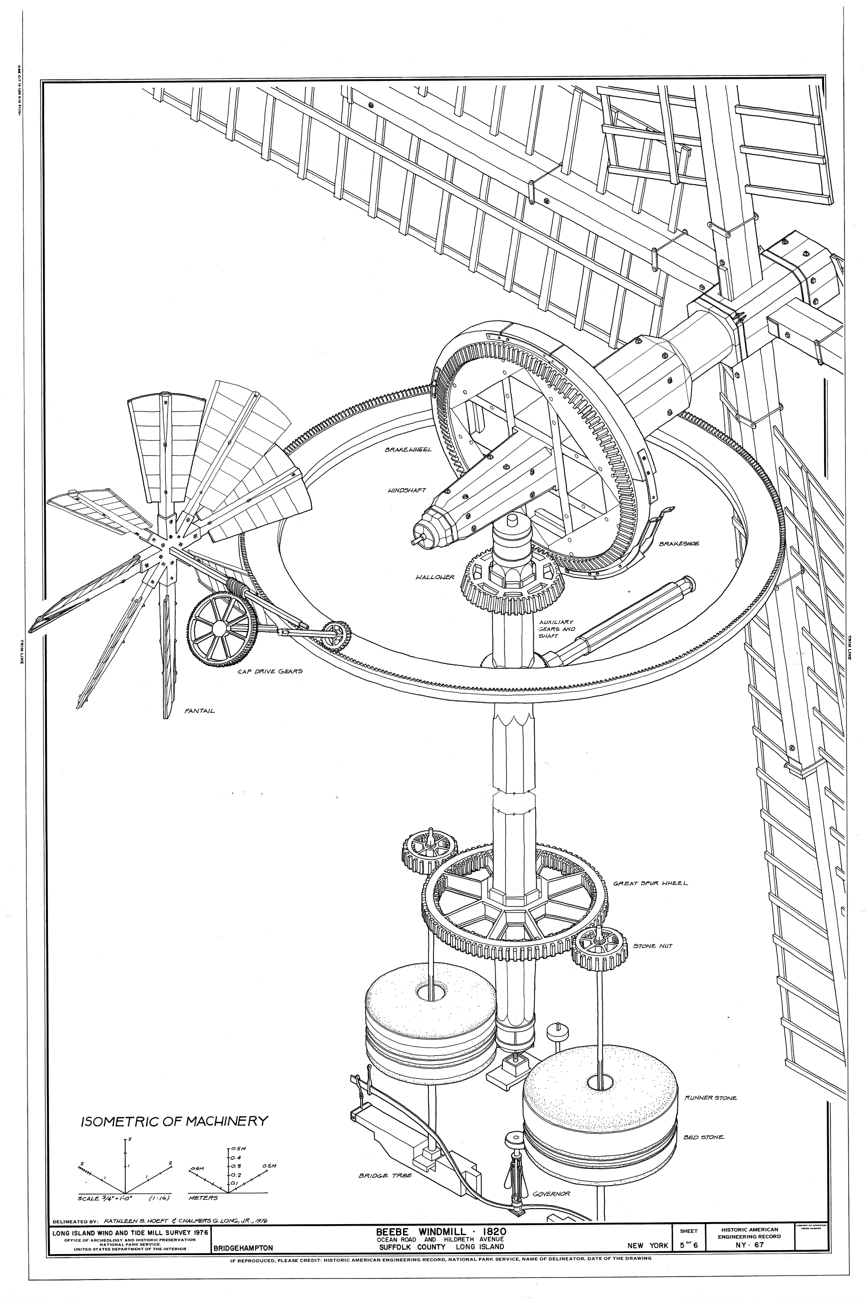 Drawn windmill simple Illustration factories: powered history of