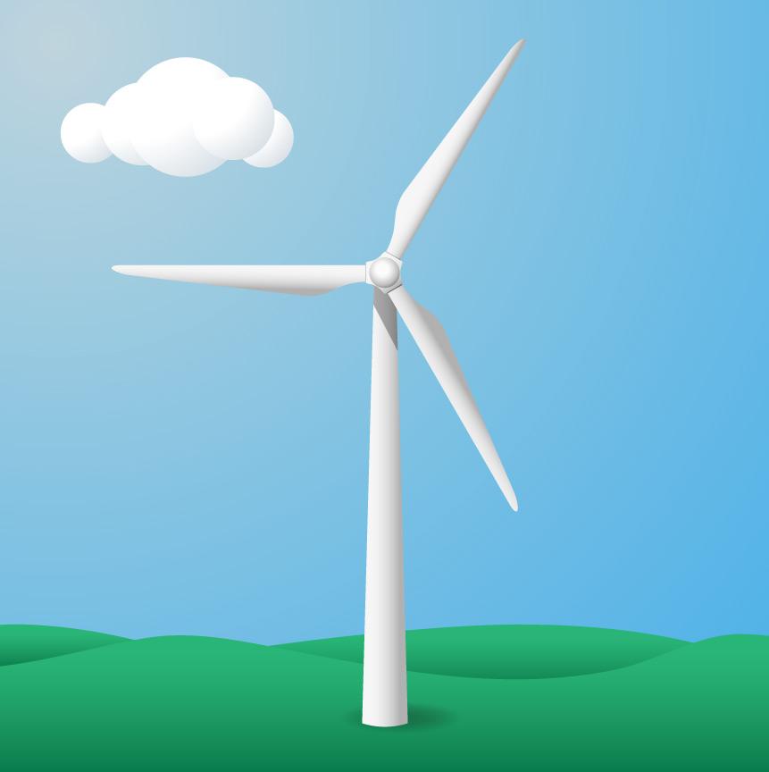 Drawn windmill simple Drawing Illustrator Turbine a ready