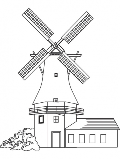 Drawn windmill Model Windmill Vintage Paper Tektonten