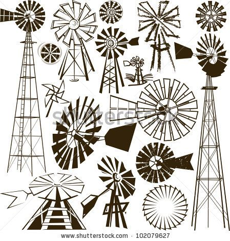 Drawn windmill simple : Collection ideas Windmill 25+