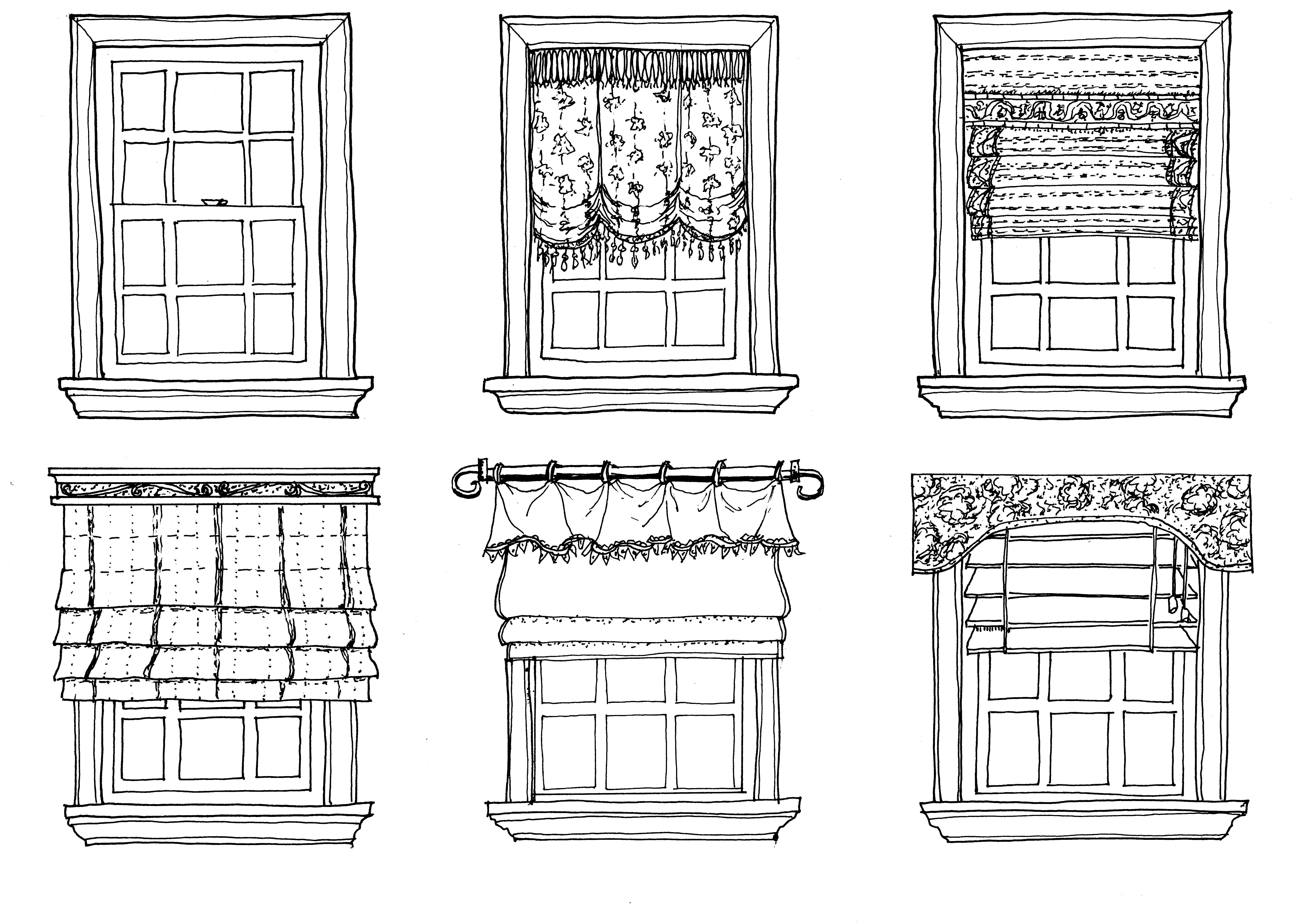 Drawn window Drawing + Treatments Window Line