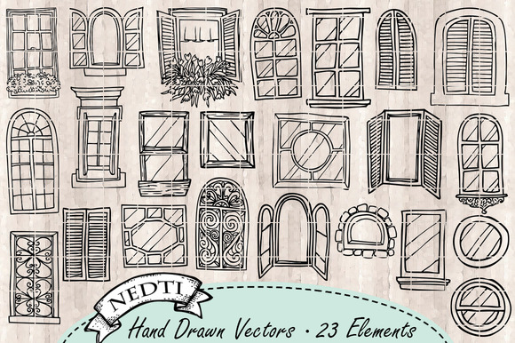 Drawn windows Graphic » Clipart Designtube Window