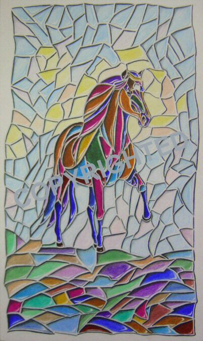 Drawn glasses glass window Paint how glass horses pencil