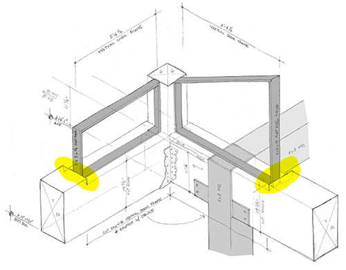 Drawn windows Isometric of at examination windows