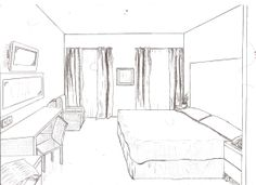 Drawn bedroom room design #4