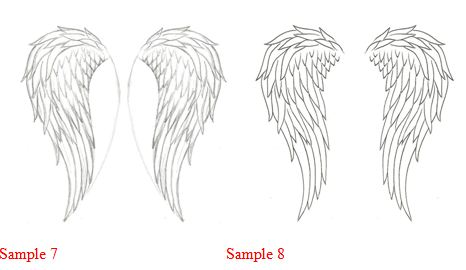Drawn angel folded wing Think is to Wings Angel