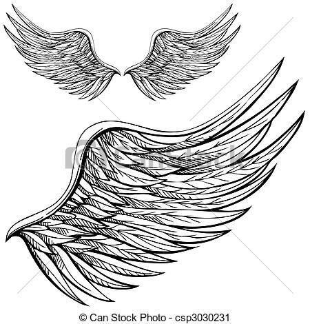 Drawn angel logo #5