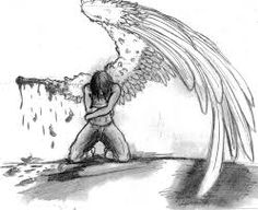 Drawn angel back To for back couple of
