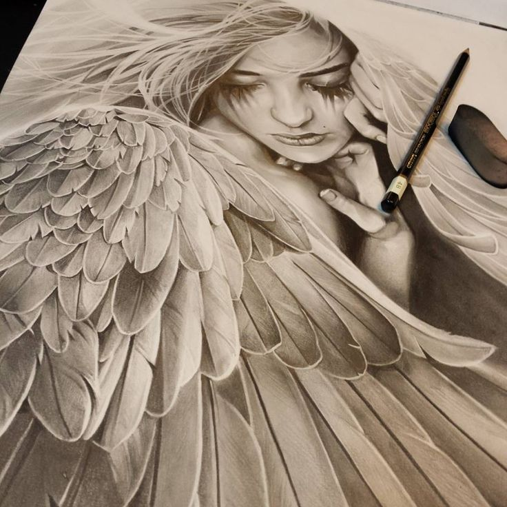 Drawn angel sketched Angel Angels drawing Google Search