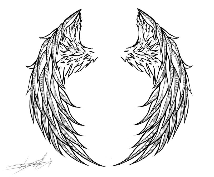 Drawn angel logo #1