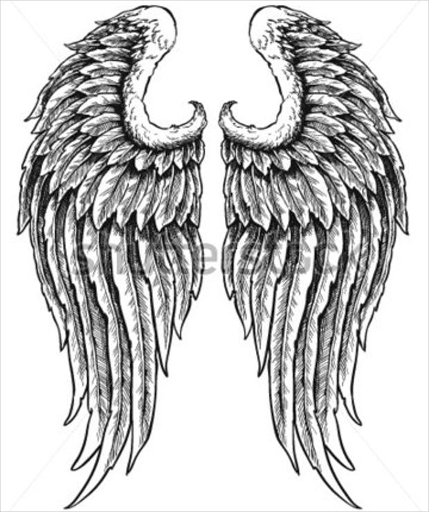 Drawn angel logo #4
