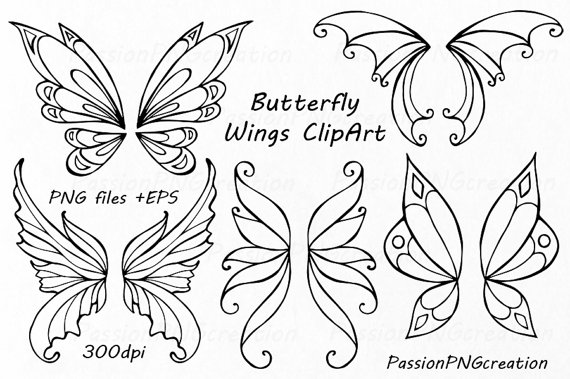 Wings clipart drawn Hand art Fairy clip wings