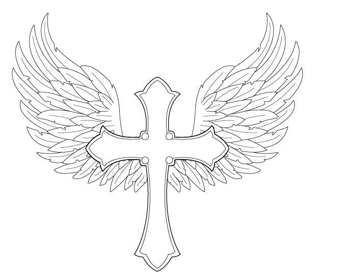 Drawn angel cross Cross by deviantart deviantart Angel
