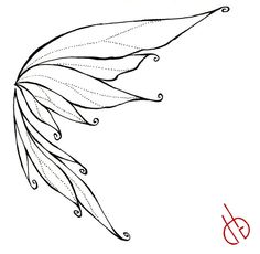 Drawn fairy side view Google BUTTERFLY drawing WINGS Search