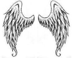 Drawn angel back Search drawing Wings Google wing