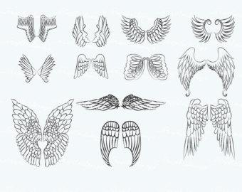 Wings clipart printable Art 011 Digital VG Etsy