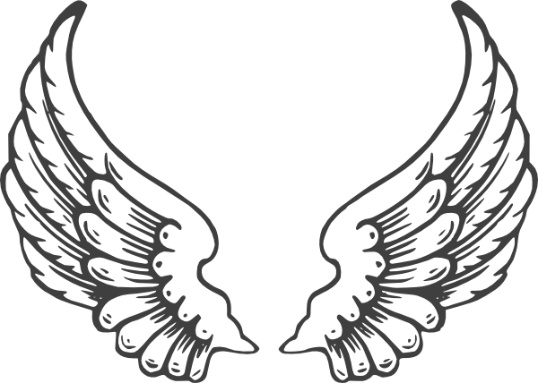 Black Eagle clipart spread eagle Wings Collection angel wing eagle
