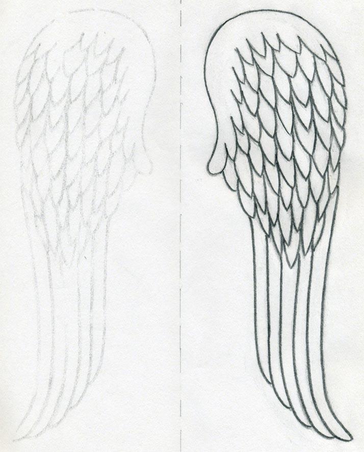 Drawn angel angel wing Angel How Few In Draw