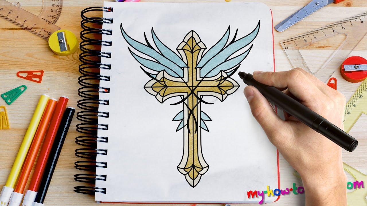 Drawn angel cross A Easy for  Angel