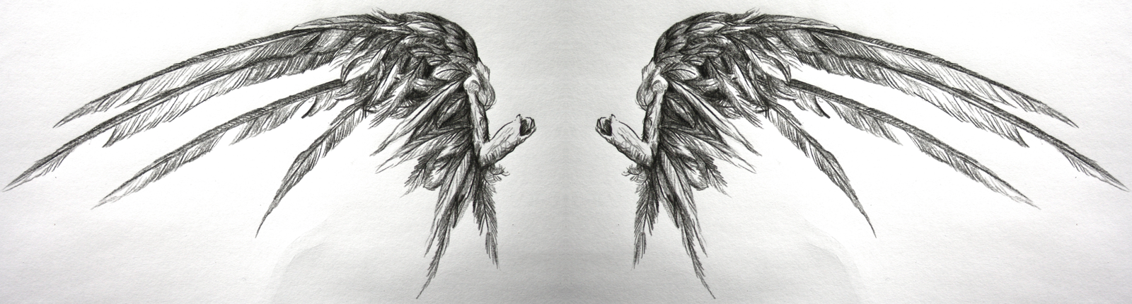Drawn angel torn wing Wings another another by DeviantArt