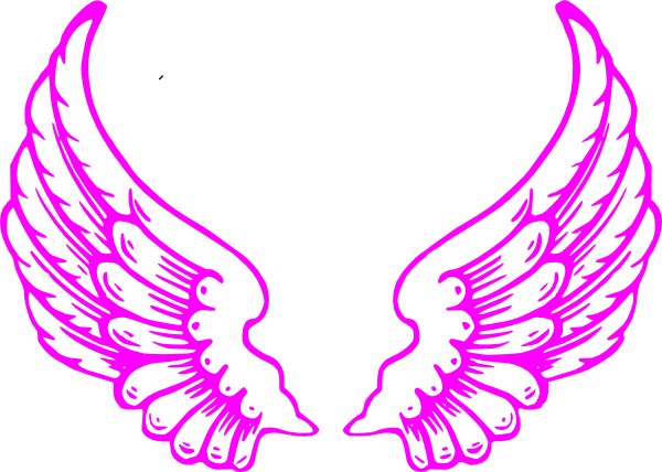 Drawn angel side view #5